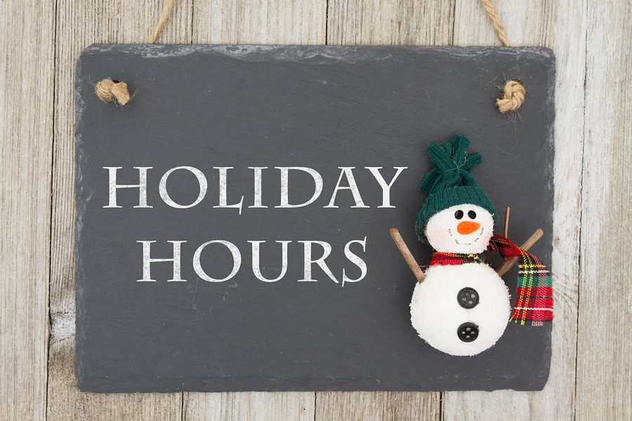 Holiday Hours & FSA Accounts